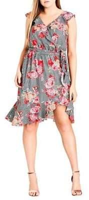 Plus Rose Picnic Dress
