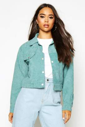 boohoo Crop Cord Trucker Jacket
