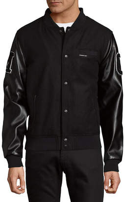 Members Only Patched Button-Front Varsity Jacket