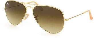 Ray-Ban Sunglasses - Rb3025 Aviator Large Metal /Frame: Matte Gold Lens: Brown Gradient (58Mm)