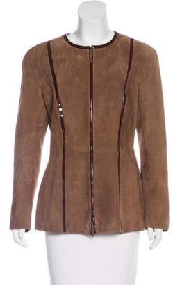 Salvatore Ferragamo Zip-Up Suede Jacket