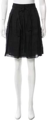 Burberry Linen Knee-Length Skirt