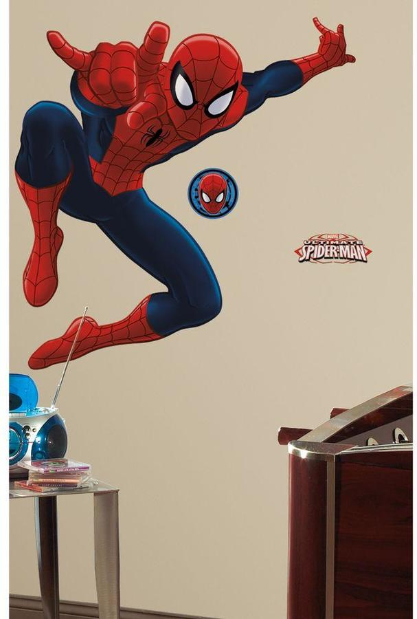 18 in. x 40 in. Spiderman - Ultimate Spiderman 17-Piece Peel and Stick Giant Wall Decal