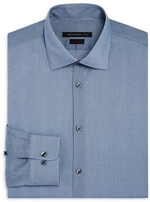 John Varvatos Small Dot Waves Slim Fit Dress Shirt