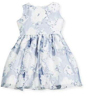 Helena Camellias Organza Sleeveless Dress, Size 2-6