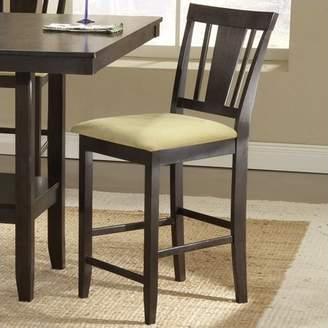 """Hillsdale Furniture Arcadia 39.25"""" Non-Swivel Counter Stool, Set of 2, Espresso Finish"""