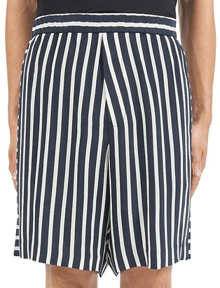 McQ Alexander McQueen Striped Relaxed Fit Shorts $440 thestylecure.com