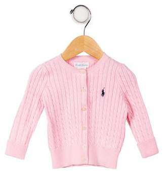 Ralph Lauren Infant Girls' Cable-Knit Crew Neck Cardigan w/ Tags
