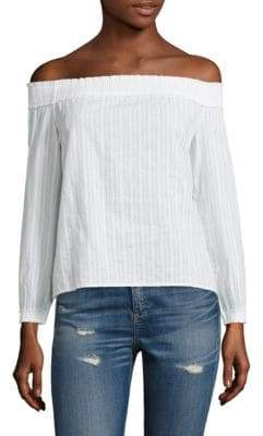 Rag & Bone Drew Off-The-Shoulder Cotton Top