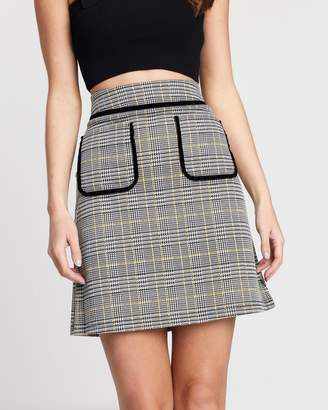 Dorothy Perkins Pouch Pocket Check Mini Skirt