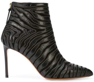 Francesco Russo zebra patterned boots
