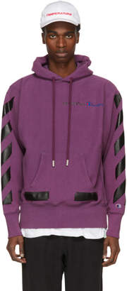 Off-White Off White Purple Champion Reverse Weave Edition Hoodie