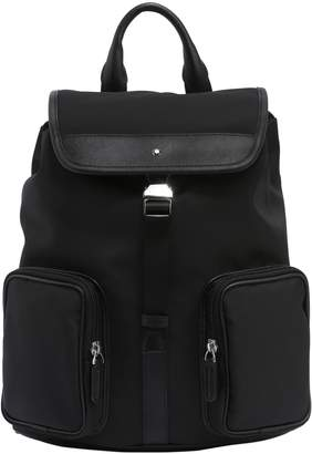 Montblanc Sartorial Jet Leather & Nylon Backpack