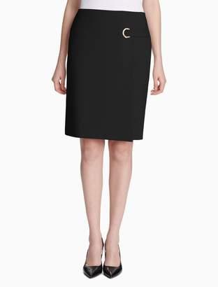 Calvin Klein luxe grommet skirt