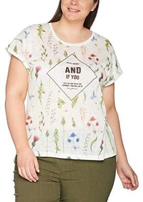 Ulla Popken Women's Shirt in Leinenoptik T-Shirt,20
