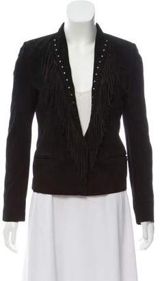 The Kooples Fringe Leather Jacket