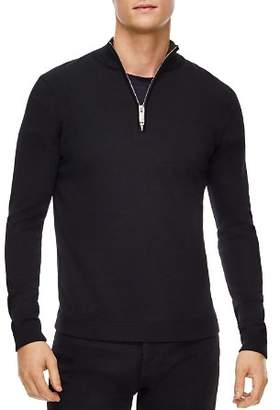 Sandro Half-Zip Wool Sweater