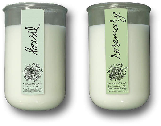 Garden Collection Essential Oil Candle & Organic Seed Pack (Set of 2)