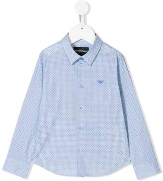 Emporio Armani Kids micro-printed shirt