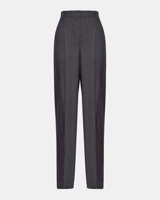 Theory Sleek Wool Pleat Trouser