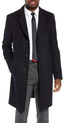 BOSS Nye Regular Fit Solid Wool & Cashmere Topcoat