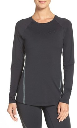 Women's New Balance Perforated Long Sleeve Top $85 thestylecure.com