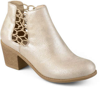 Journee Collection Womens Talise Booties Block Heel Pull-on