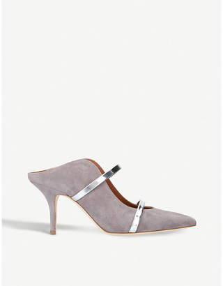 Malone Souliers Maureen strappy suede mules
