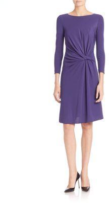 Armani Collezioni Side-Gathered Jersey Dress $895 thestylecure.com