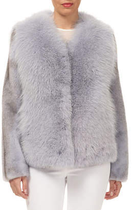 Gorski Fox-Fur Jacket w/ Mink-Fur Sleeves