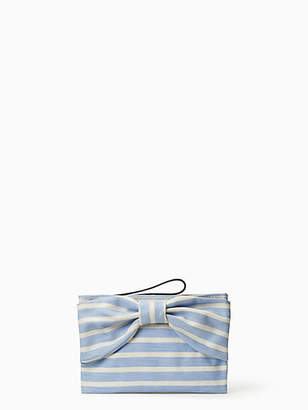 Kate Spade On purpose new canvas bow wristlet