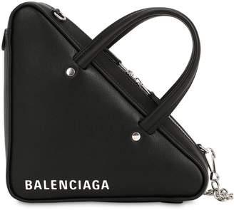 Balenciaga Xs Triangle Leather Shoulder Bag