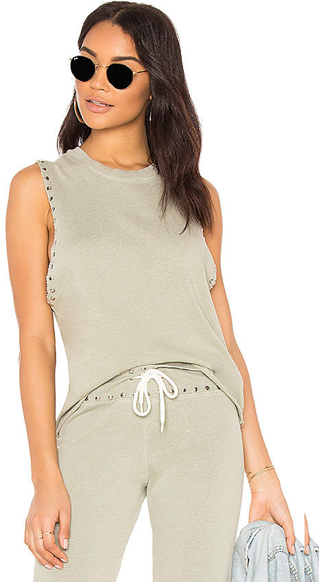 Studded Sleeveless Sweatshirt