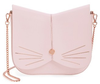 Ted Baker London Cat Leather Crossbody Bag - Pink $195 thestylecure.com