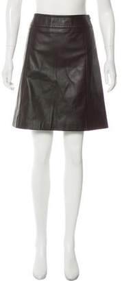 Max Mara 'S Leather A-Line Skirt w/ Tags