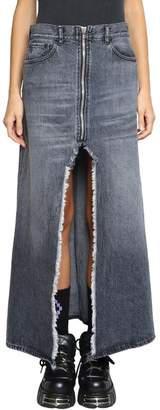 Marcelo Burlon County of Milan Washed Denim Skirt