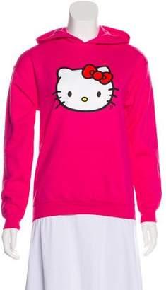 Hello Kitty Anti SocialSocial Club Hooded Print Sweatshirt