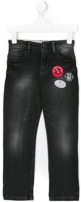 Little Marc Jacobs appliqué patch denim jeans