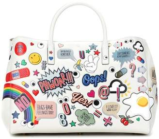 Anya Hindmarch Ebury Maxi All Over Stickers leather shopper