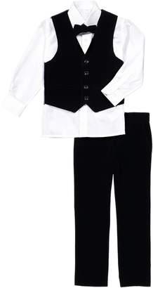 Isaac Mizrahi 4-Piece Velvet Vest Set (Big Boys)
