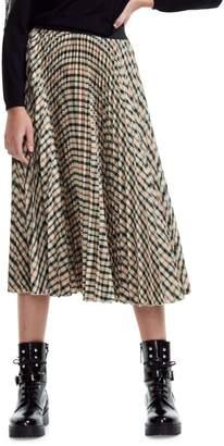 Maje Wave 1 Johnny Pleated Midi Skirt