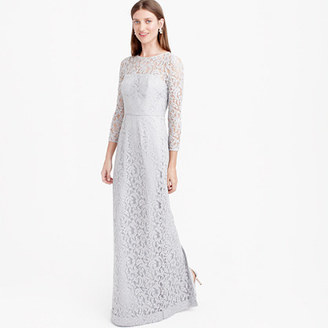 Selina long dress in Leavers lace $298 thestylecure.com