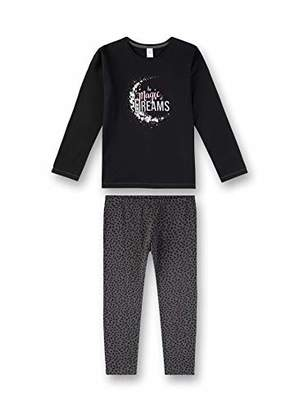 Sanetta Girl's Pyjama Set, Super Black 10015