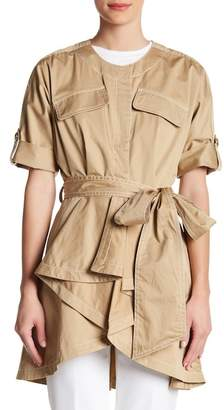 Badgley Mischka Hi-Lo Half Sleeve Jacket