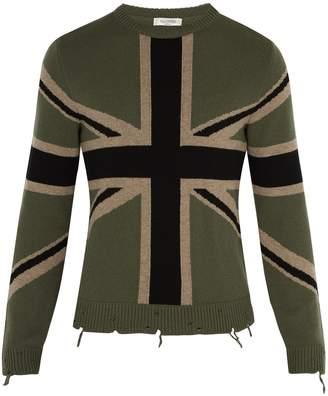 Valentino Union flag cashmere sweater