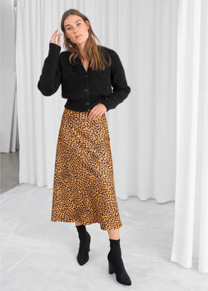 And other stories Leopard Print Midi Skirt