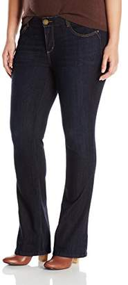 """Democracy Women's Plus-Size """"Ab""""Solution Itty Bitty Boot Jeans"""