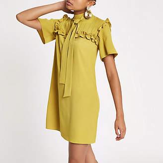 River Island Yellow frill swing dress