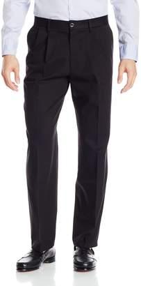 Dockers Classic Fit Signature Khaki Pant - Pleated D3, Black Stretch, 34x36