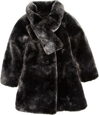 Lili Gaufrette Cross Collar Fur Coat